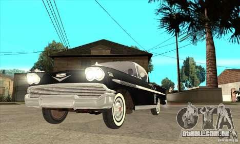 Chevrolet Impala 1958 para vista lateral GTA San Andreas