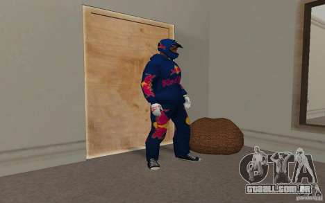 Red Bull Clothes v2.0 para GTA San Andreas por diante tela