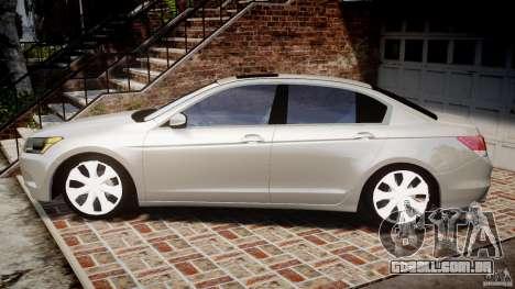 Honda Accord 2009 para GTA 4 esquerda vista
