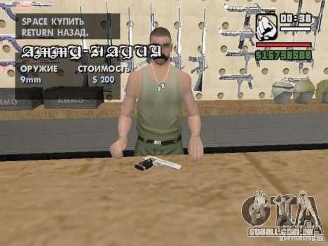 Silverballer do Hitman para GTA San Andreas segunda tela