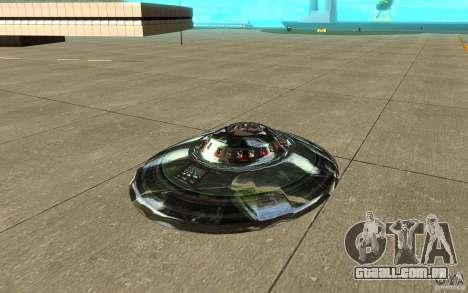 Real UFO para GTA San Andreas esquerda vista