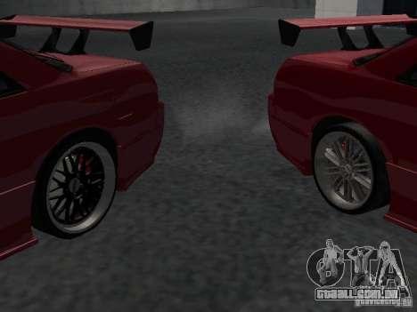 Nissan Skyline R32 Tuned para GTA San Andreas vista inferior
