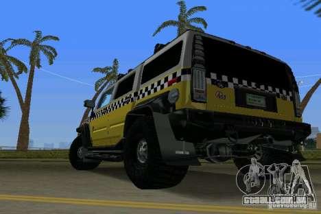 Hummer H2 SUV Taxi para GTA Vice City deixou vista