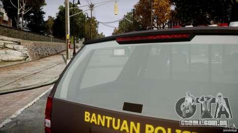 Chevrolet Tahoe Indonesia Police para GTA 4 vista inferior