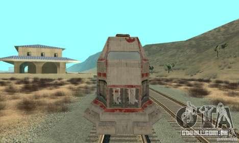Um trem bom, Star Wars para GTA San Andreas esquerda vista