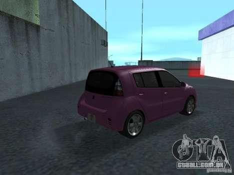 Toyota WiLL Cypha para GTA San Andreas vista direita