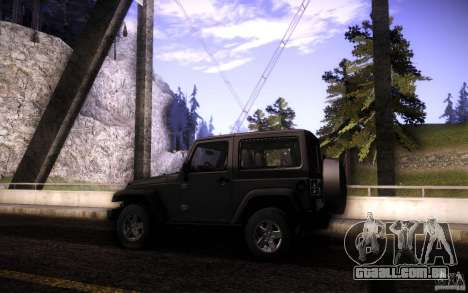 Jeep Wrangler Rubicon 2012 para GTA San Andreas vista superior
