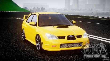 Subaru Impreza STI para GTA 4 vista de volta