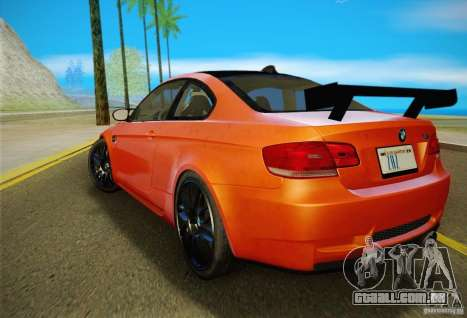 BMW M3 GT-S Final para GTA San Andreas vista traseira