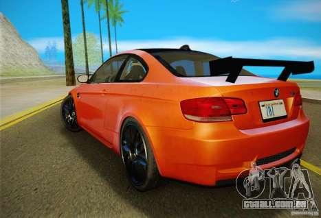BMW M3 GT-S Final para GTA San Andreas vista traseira