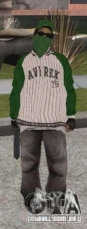 Novas skins Grove Street para GTA San Andreas quinto tela