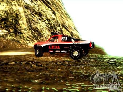 Toyota Tundra Rally para GTA San Andreas vista traseira
