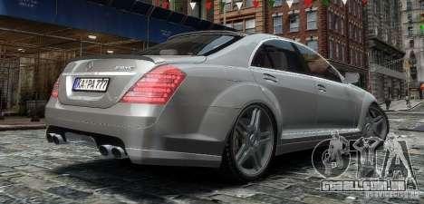 Mercedes Benz S63 Amg para GTA 4 esquerda vista