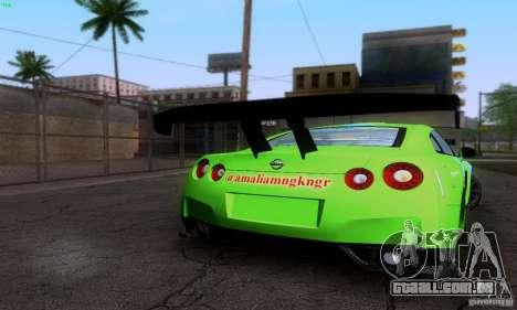 Nissan GTR R35 Tuneable para o motor de GTA San Andreas