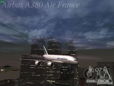 Airbus A380-800 Air France para o motor de GTA San Andreas