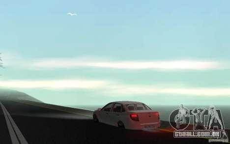Lada Granta Stock para GTA San Andreas traseira esquerda vista