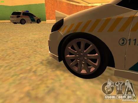 Suzuki SX-4 Hungary Police para GTA San Andreas vista direita