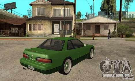 Nissan Silvia S13 1992 Club Ks para GTA San Andreas vista direita