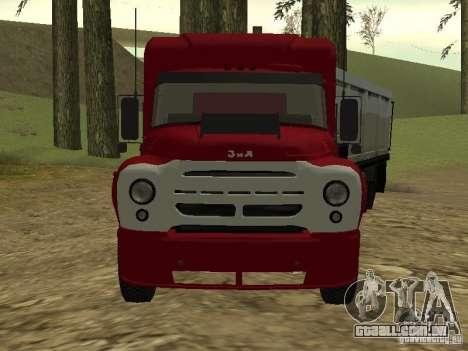 ZIL 130 trator para GTA San Andreas esquerda vista
