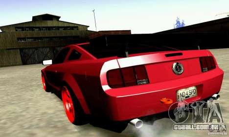 Shelby GT500 KR para GTA San Andreas esquerda vista