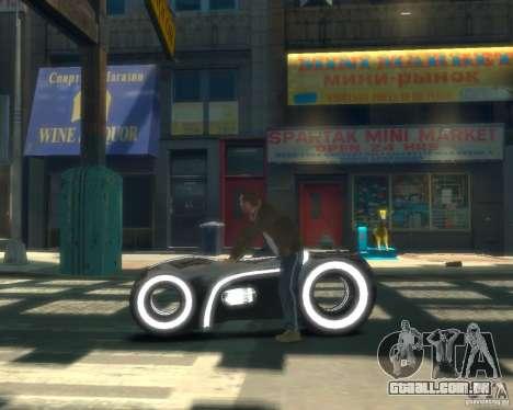 Motocicleta do trono (neon cinza) para GTA 4 esquerda vista