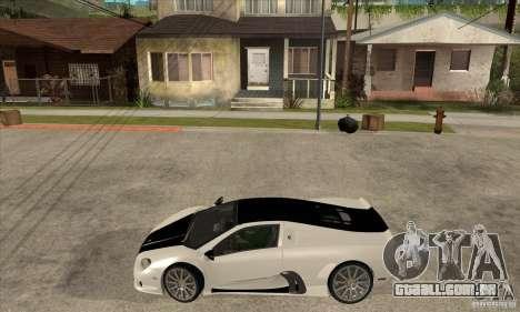 SSC Ultimate Aero FM3 version para GTA San Andreas esquerda vista
