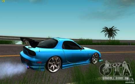 Mazda Rx7 C-West para GTA San Andreas traseira esquerda vista