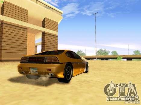 Pontiac Fiero V8 para GTA San Andreas esquerda vista