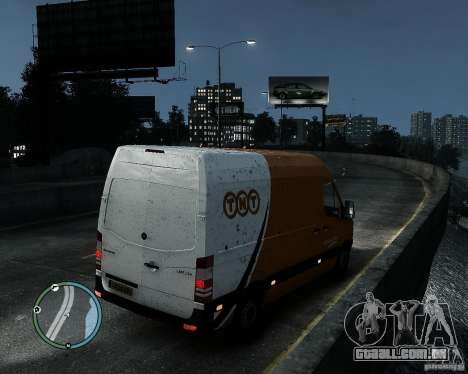Mercedes-Benz Sprinter TNT para GTA 4 esquerda vista