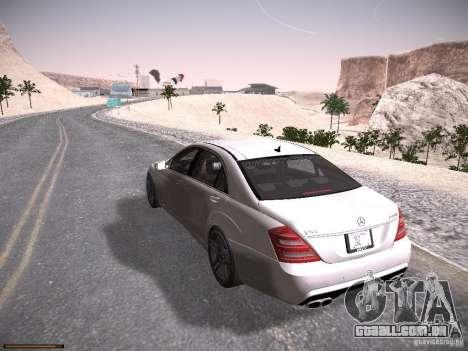 Mercedes Benz S65 AMG 2012 para GTA San Andreas traseira esquerda vista
