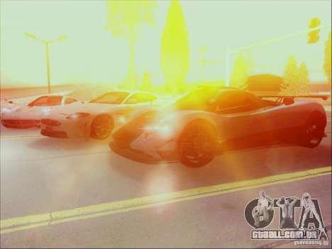 Pagani Zonda Cinque para GTA San Andreas vista interior