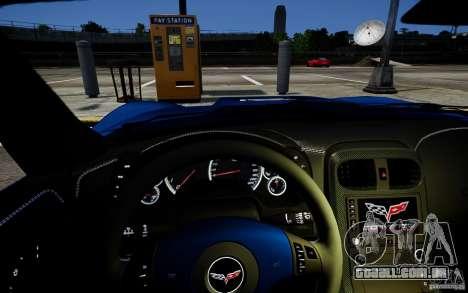 Chevrolet Corvette ZR1 para GTA 4 vista de volta