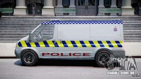 Ford Transit Polish Police [ELS] para GTA 4 esquerda vista