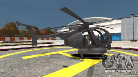 New AH-6 Little Bird para GTA 4 esquerda vista