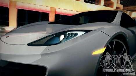 McLaren MP4-12C 2012 para GTA San Andreas vista direita