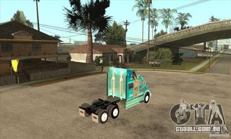 Peterbilt 387 pele 4 para GTA San Andreas vista traseira