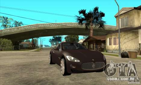 Maserati Gran Turismo para GTA San Andreas vista traseira