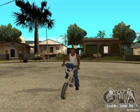 WideWheel-BMX 1 LOUIS VUITTON Version para GTA San Andreas vista traseira