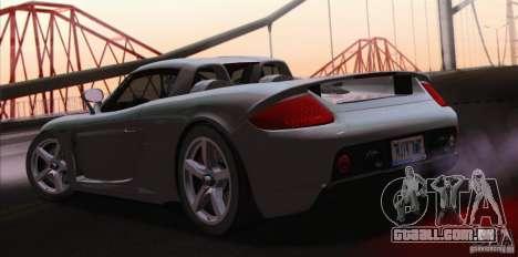 Porsche Carrera GT para GTA San Andreas vista direita