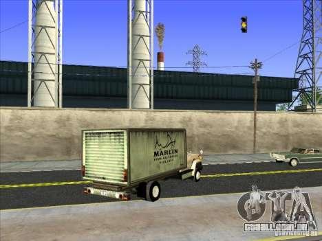 Yankee baseado no GMC para GTA San Andreas traseira esquerda vista