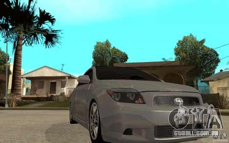 Scion tC - Stock para GTA San Andreas vista traseira