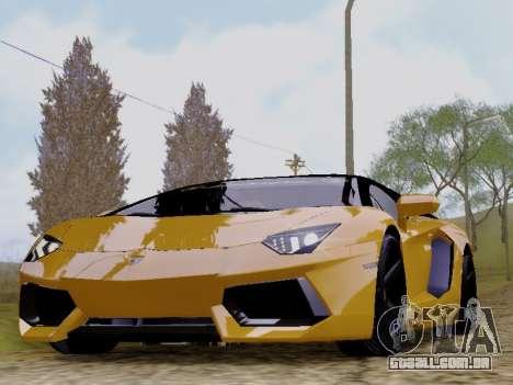 Lamborghini Aventador LP700-4 Vossen para GTA San Andreas traseira esquerda vista