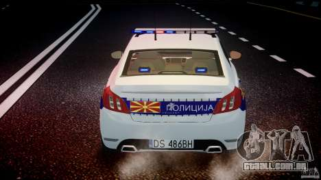 Peugeot 508 Macedonian Police [ELS] para GTA 4 interior