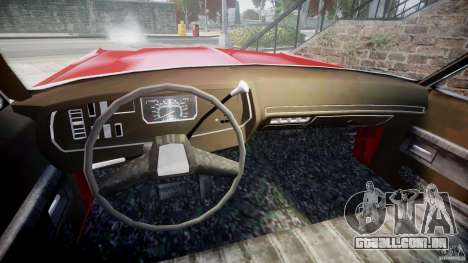 Dodge Monaco 1974 para GTA 4 vista interior
