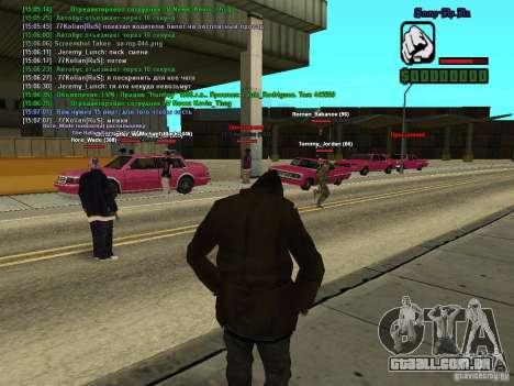 SA:MP 0.3d para GTA San Andreas sexta tela