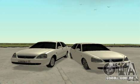 Lada Priora Hatchback para vista lateral GTA San Andreas