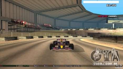 Ferrari F1 RedBull para GTA San Andreas traseira esquerda vista