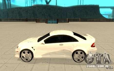 Mercedes-Benz CLK 500 Kompressor para GTA San Andreas esquerda vista