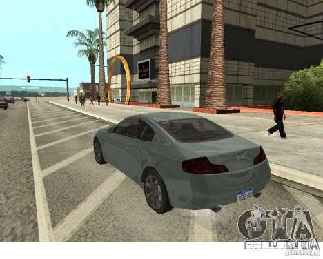 Infiniti G35 Coupe para GTA San Andreas esquerda vista