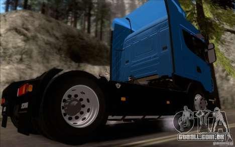 Scania R500 para GTA San Andreas traseira esquerda vista